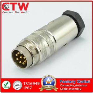 IP67 M16 Metal Waterproof Cable Circular Connector pictures & photos