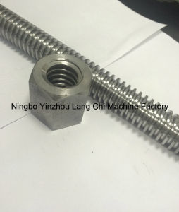 Trapezoidal Lead Screw Acme Screw with Hex Nuts Tr30X6