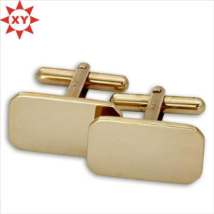 Wholesale Cheap Gold Blank Cufflinks/Cufflinks Manufacture pictures & photos