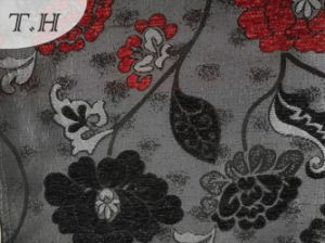 2016 Elegant Lotus Pattern Chenille Jacquard Cloth (FTH32115) pictures & photos