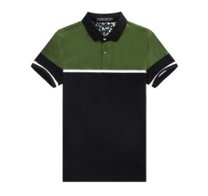 New Design High Quality Two Tone Men Polo Shirt pictures & photos