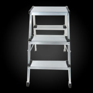 A Shape Household Foldable Aluminum Wide Step Stool pictures & photos