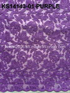 2015 High Quality African Cord Lace Fabric/ Swiss Cord Laces/ Cord Embroidery Patterns pictures & photos