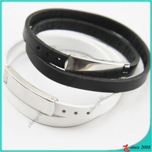 Fashion Jewelry China Supplier Leather Bracelet with Buckle