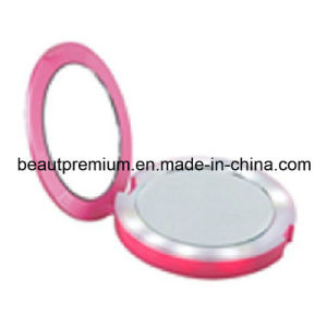 LED Mirror with Power Bank Plastic Mirror Round Mirror Double Mirror Pocket Mirror L′oreal Audit Mirror BPS002 pictures & photos