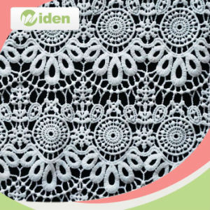 Women Clothes Fabrics 100 % Milky Polyester Chemical Lace Fabric pictures & photos