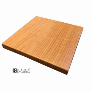 Closed Edge Wood Look Aluminum Honeycomb Sandwich Panels pictures & photos