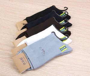 High Quality Men Bamboo Fiber Socks pictures & photos