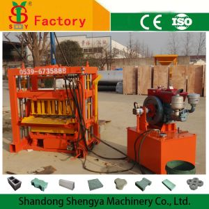 Diesel Engine Hydraulic Concrete Paver Making Machine for Hollow Block, Solid Brick, Paver and Kerb in Brick Making Machinery pictures & photos