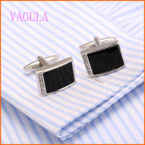 VAGULA High Quality New Design Rhinestone Shirt Cufflinks pictures & photos