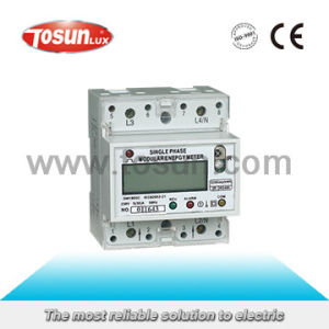 DIN Rial Mounted Modular Energy Meter pictures & photos