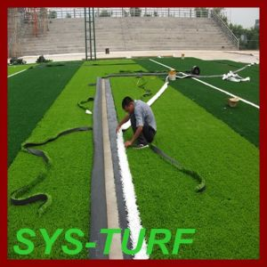 Bicolor 50mm 12500dtex PE Football Artificial Grass for Sporting pictures & photos