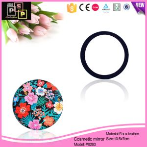 Printing Leather Comsetic PU Mirror Gift Mirror (8263) pictures & photos