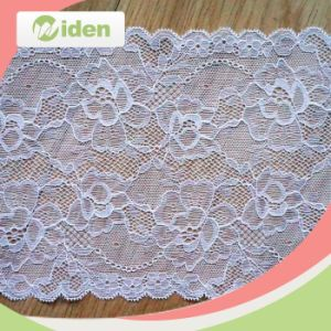 Beautiful Trimming Lace with Sequin Lycra Lace Fabric Elastic Lace pictures & photos
