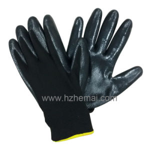 Polyester Nitrile Coated Gloves Safety Work Glove pictures & photos