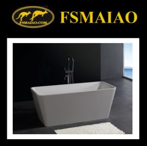 Rectangle Thin-Edage Freestanding Solid Surface Bathtub (BS-8603) pictures & photos