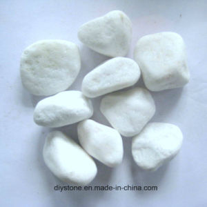 Pebble Snow White Pebble for Landscaping pictures & photos