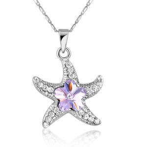 Professional Factory Starfish Rhinestone Jewelry Metal Pendant Necklace pictures & photos