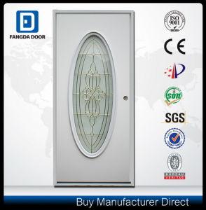Fangda Pre-Hung Inner Glass Exterior Steel Metal Door pictures & photos