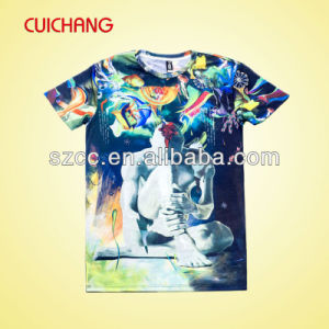 Custom Bulk Promotional 100 Polyester T Shirt Factory pictures & photos