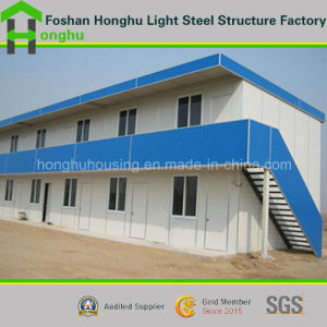 Comfortable Prefabricated House 2 Storey Plat Roof House pictures & photos