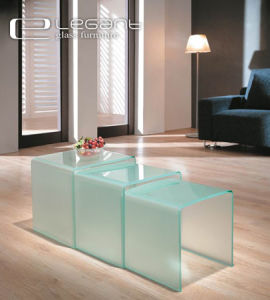 Sandblasting Glass Nest of Table in 2015 pictures & photos