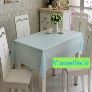 Transparent Vinyl Table Cloth / PVC Table Cloth pictures & photos