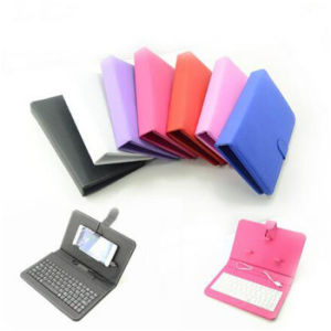 Universal Creative Keyboard Mobile Phone Leather Cover Case pictures & photos