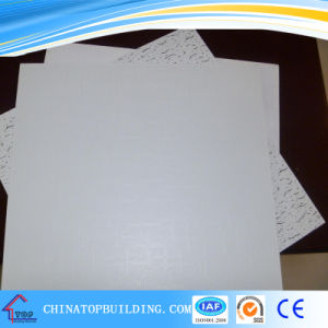 631# PVC Laminated Gypsum Ceiling Tile pictures & photos