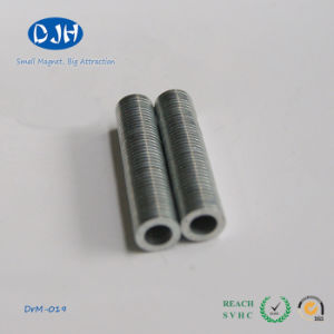 Sintered Permanent (D6.5*D3.91mm) Nickel Coating Ring Neodymium Magnet pictures & photos