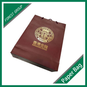 Fancy Red Paper Bag with Cotton Handle pictures & photos
