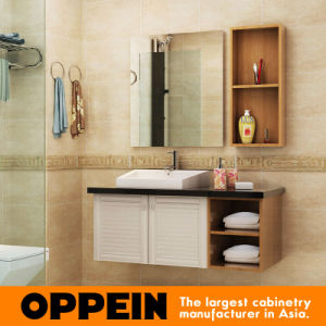 Oppein Classic Cherrywood Louvered Door Bathroom Furniture (OP15-072C) pictures & photos