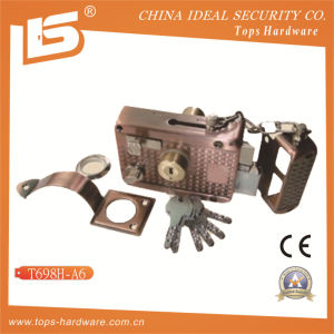 Security High Quality Door Rim Lock (T698H-A6) pictures & photos