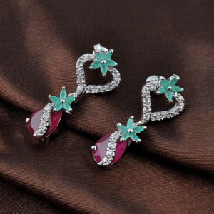 Latest imitation Jade Ruby Stone Waterdrop 3A Zircon Dangle Earrings pictures & photos