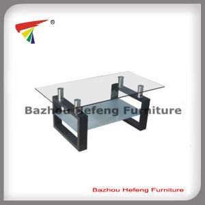 Hot Sale Glass Coffee Table with MDF Legs (CT069) pictures & photos