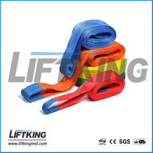High Strength Approved Ce Certificate Flat Eye Polyester Webbing Sling pictures & photos