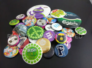 Promotional Round Tin Badge, Pin Tinplate Badge pictures & photos