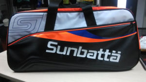 Sunbatta Red Black Badminton 6-Racket Bag (BGS-2150)