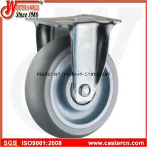 Round Tread Super Synthetic Rubber Fixed Caster pictures & photos