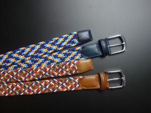 Fashion Elastic Woven Mens Belt pictures & photos