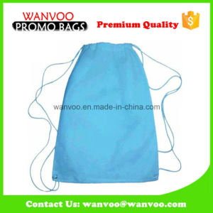Blue Simply Design Polyester Backpack pictures & photos