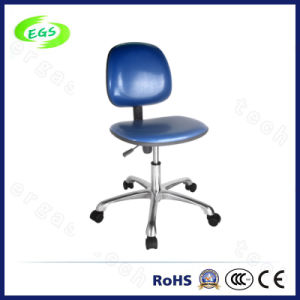 Blue PU Leather Adjustable ESD Cleanroom Chair (EGS-3309-LHL) pictures & photos
