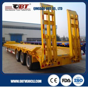 3 Axle 50ton Payload Low Bed Semi Trailer pictures & photos