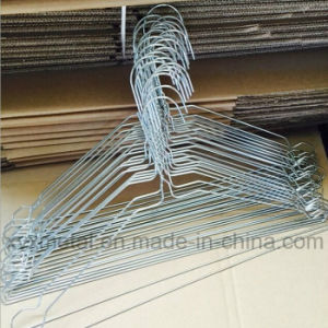 Galvanized Metal Wire Clothes Coat Steel Hanger for Commercial Laundries pictures & photos