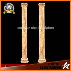 Egypt Cream Marble Hand Carved Roman Column (NS-11C08) pictures & photos