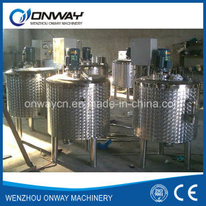 Pl Stainless Steel Jacket Emulsification Mixing Tank Oil Blending Machine Mixer Sugar Solution Mixing Tanks pictures & photos