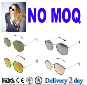 2016 China New Italian Design High Fashion Mirror Revo Metal Woman Girls Round Sunglasses pictures & photos