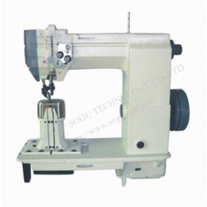 Double Needle Post Bed Lockstitch Shoe Leather Industrial Sewing Machine pictures & photos