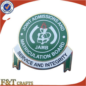 Design Your Own Logo Fashion Letter M Shape Metal Badge (FTBG1433A) pictures & photos