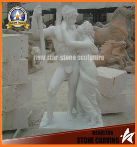Double Figure Marble Hand Carved White Statues (NS-11F02) pictures & photos